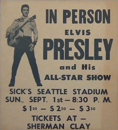 Elvis Seattle 1957 poster
