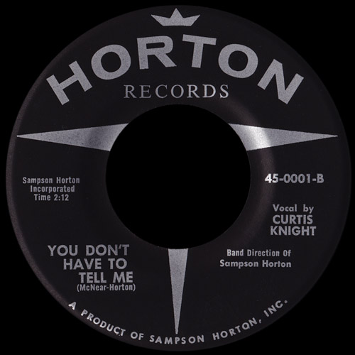 Curtis Knight - You Don't Have To Tell Me